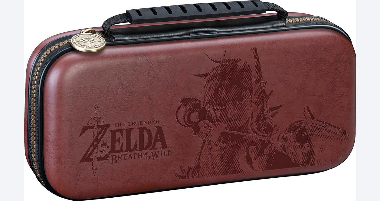 Nintendo Switch The Legend of Zelda Link Brown Game Traveler Deluxe Travel Case