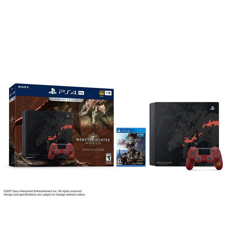 PlayStation 4 Pro Monster Hunter: World Limited Edition Bundle 1TB Only at GameStop