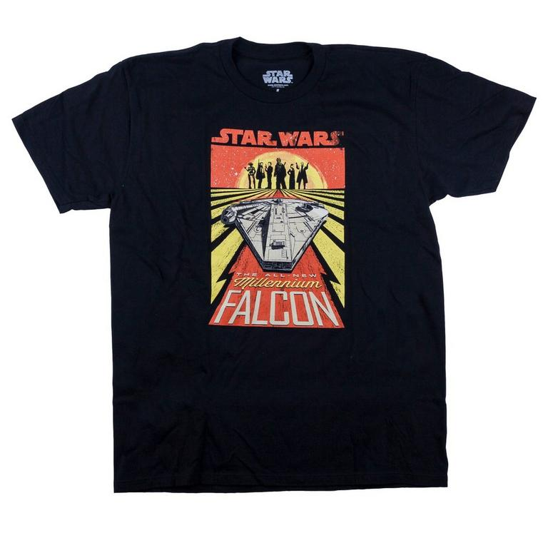 Star Wars: Solo All New Millenium Falcon Black T-Shirt