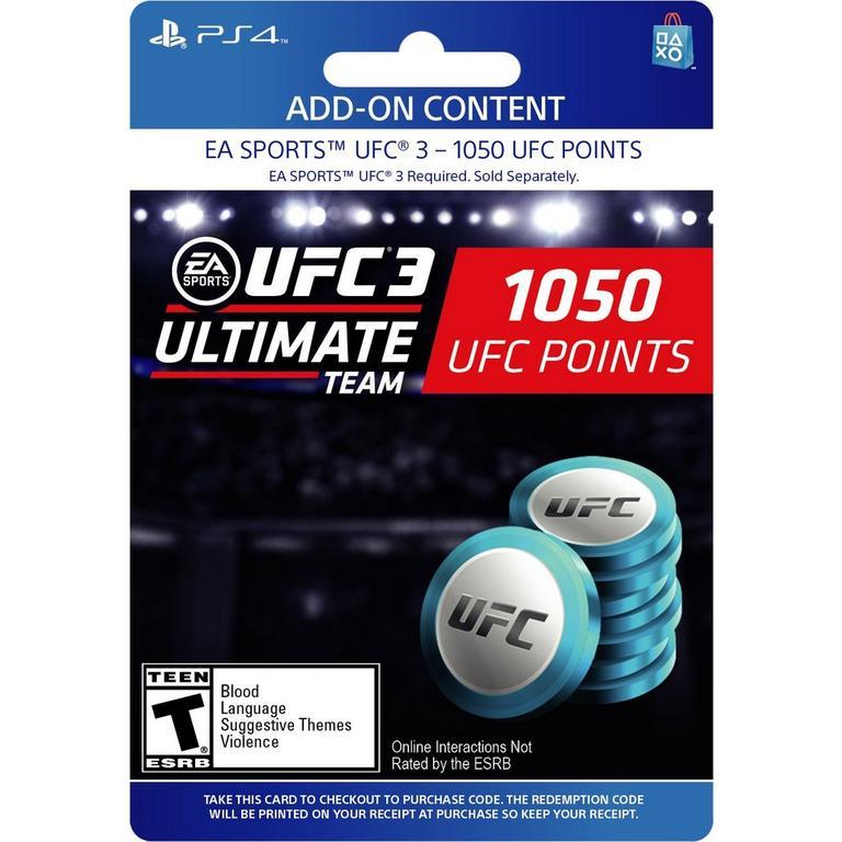 EA Sports UFC 3 - 1,050 Ultimate Team Points