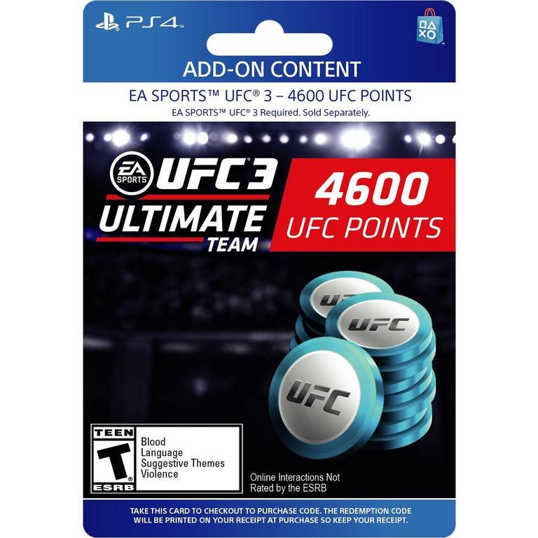 EA Sports UFC 3 - 4,600 Ultimate Team Points