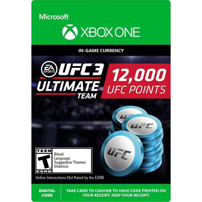 EA Sports UFC 3 12,000 Ultimate Team Points