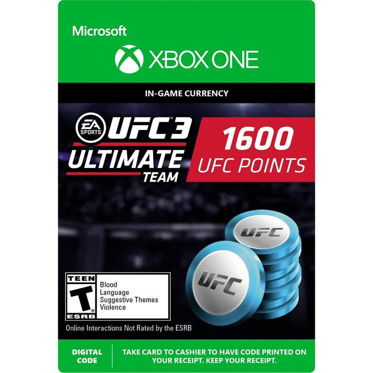 EA Sports UFC 3 1,600 Ultimate Team Points