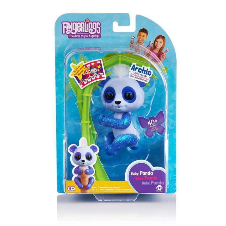 Fingerlings Archie Blue Baby Panda Interactive Figure