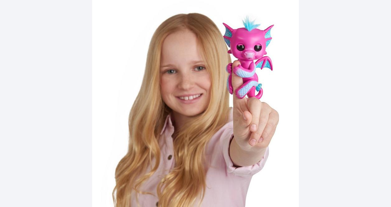 Fingerlings Sandy Pink Baby Dragon Interactive Figure