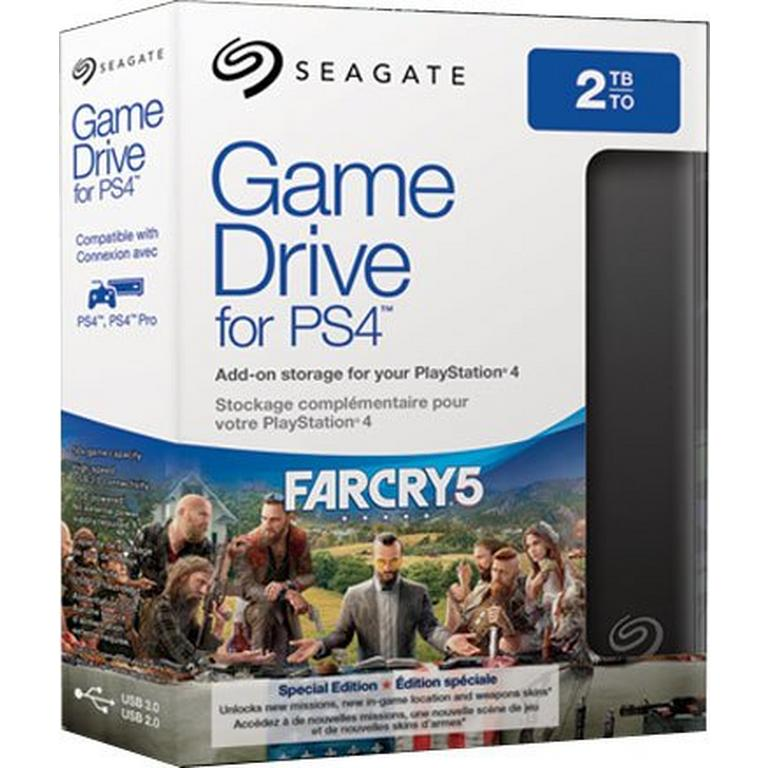 Seagate 2TB Game Drive for PS4 - Far Cry 5 Special Edition