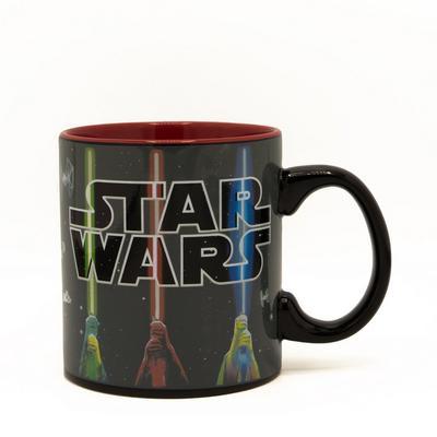 Star Wars Light Sabers Logo Heat Changing Mug