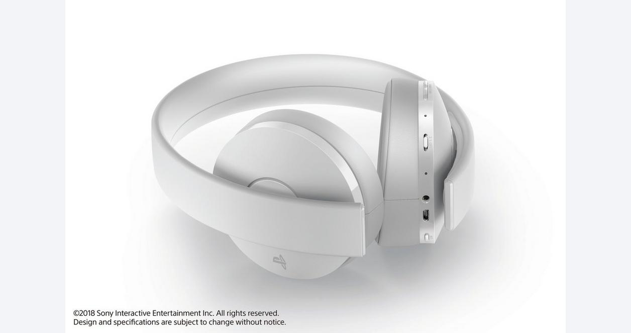 PlayStation 4 New Gold White Wireless Headset