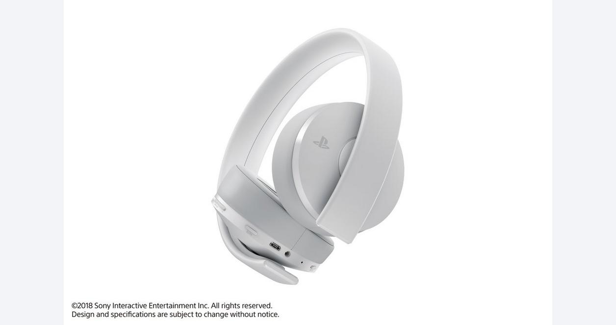 PS4 Sony Gold Wireless Headset - White