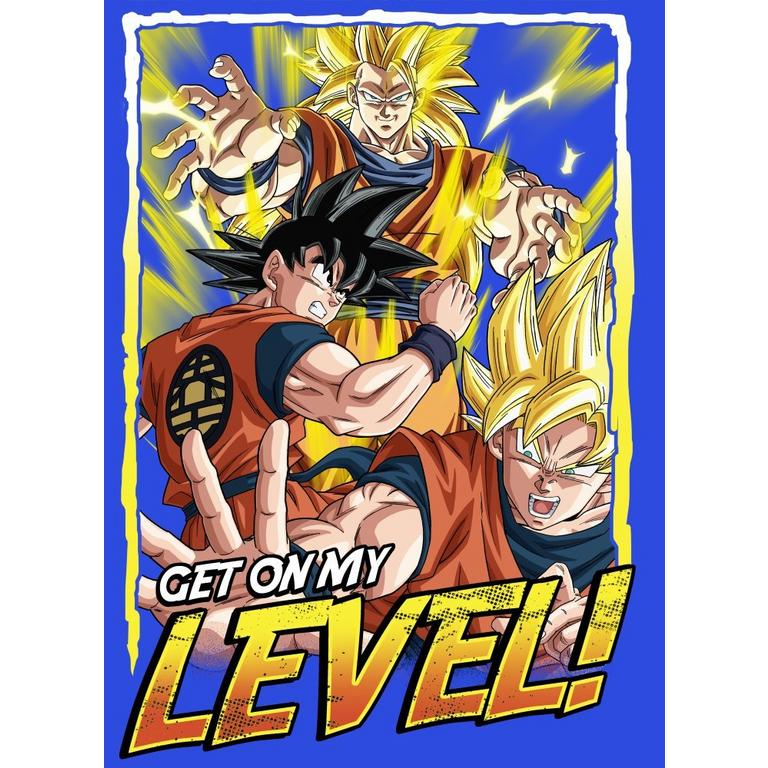 Dragon Ball Z Get On My Level Youths T-Shirt