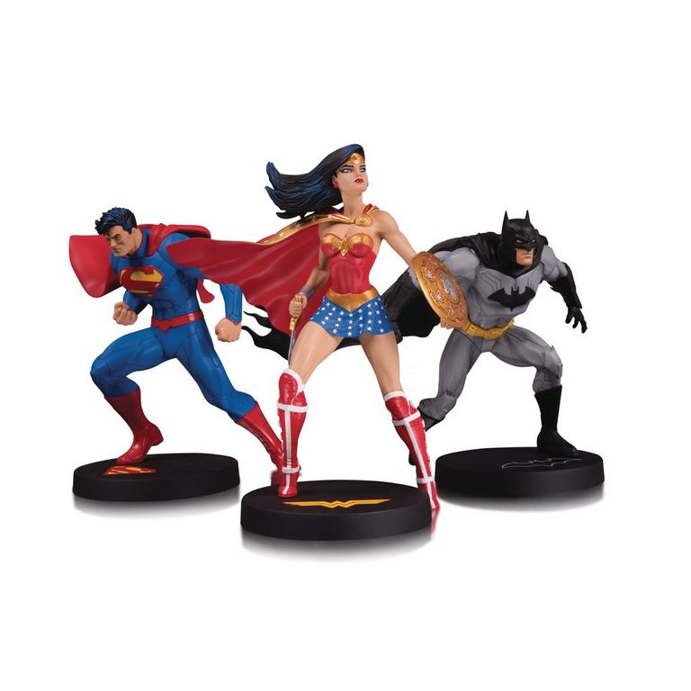 Batman Superman and Wonder Woman by Jim Lee DC Designer Series Statue 3 Pack