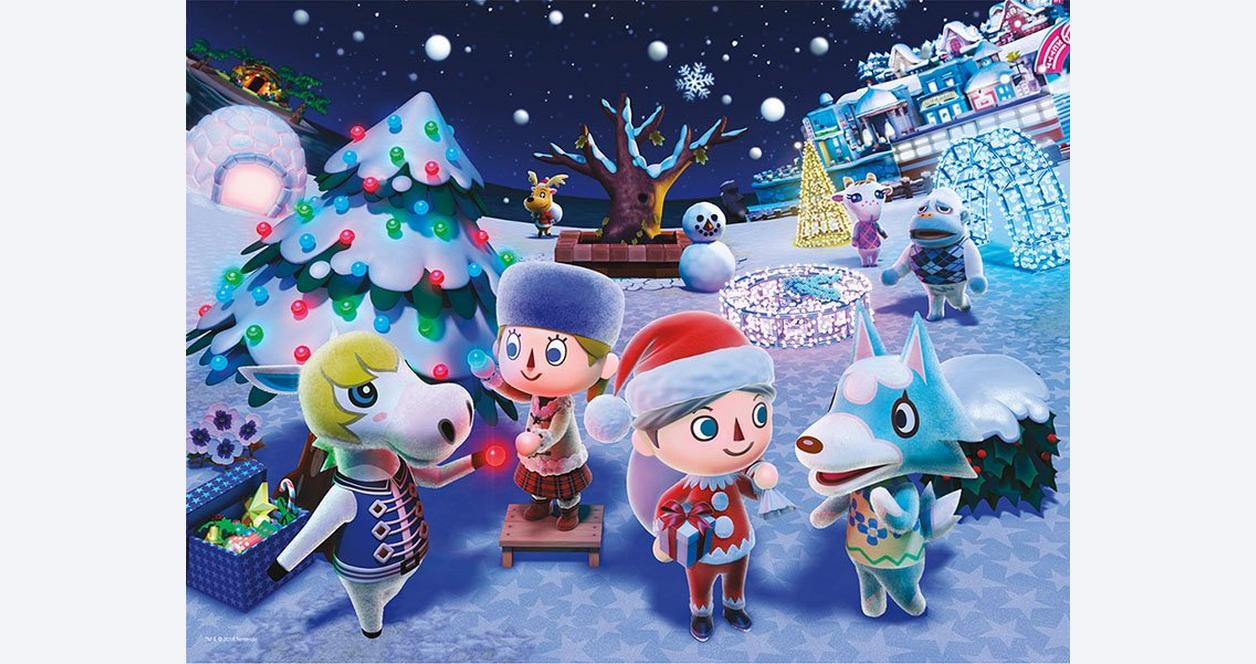 Animal Crossing Winter Puzzle Only at Gamestop