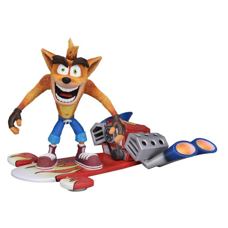 Crash Bandicoot Deluxe Crash with Jet Board Action Figure
