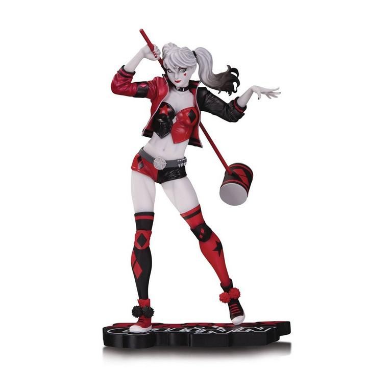 Harley Quinn by Philip Tan Red White and Black Statue