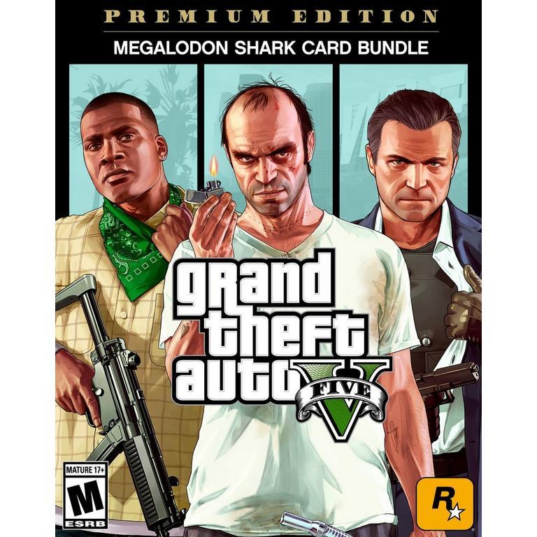 Grand Theft Auto V, Criminal Enterprise Starter Pack and Megalodon Shark Card Bundle
