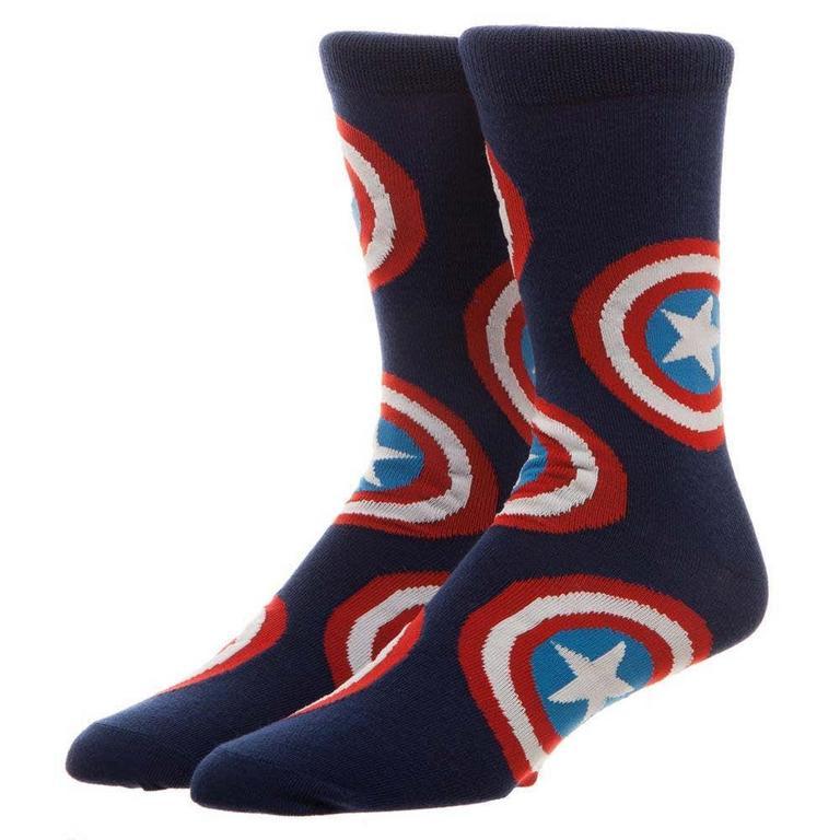 Captain America Shield Crew Socks