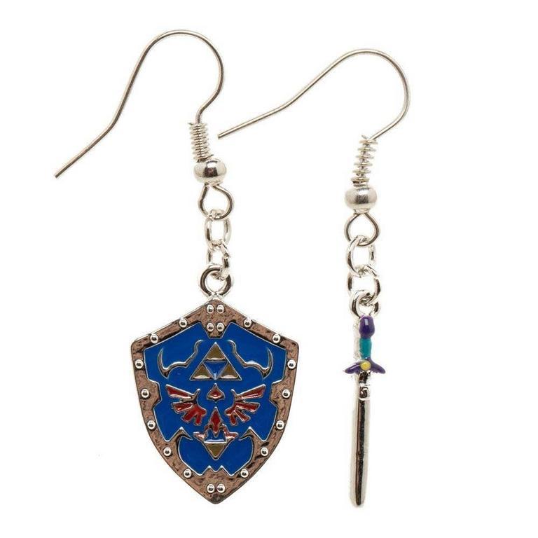 The Legend Of Zelda Sword And Shield Earrings