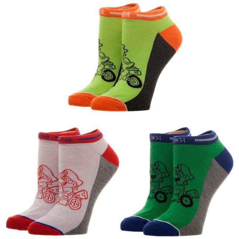 Mario Kart Good Guys Juniors Ankle Socks 3 Pack
