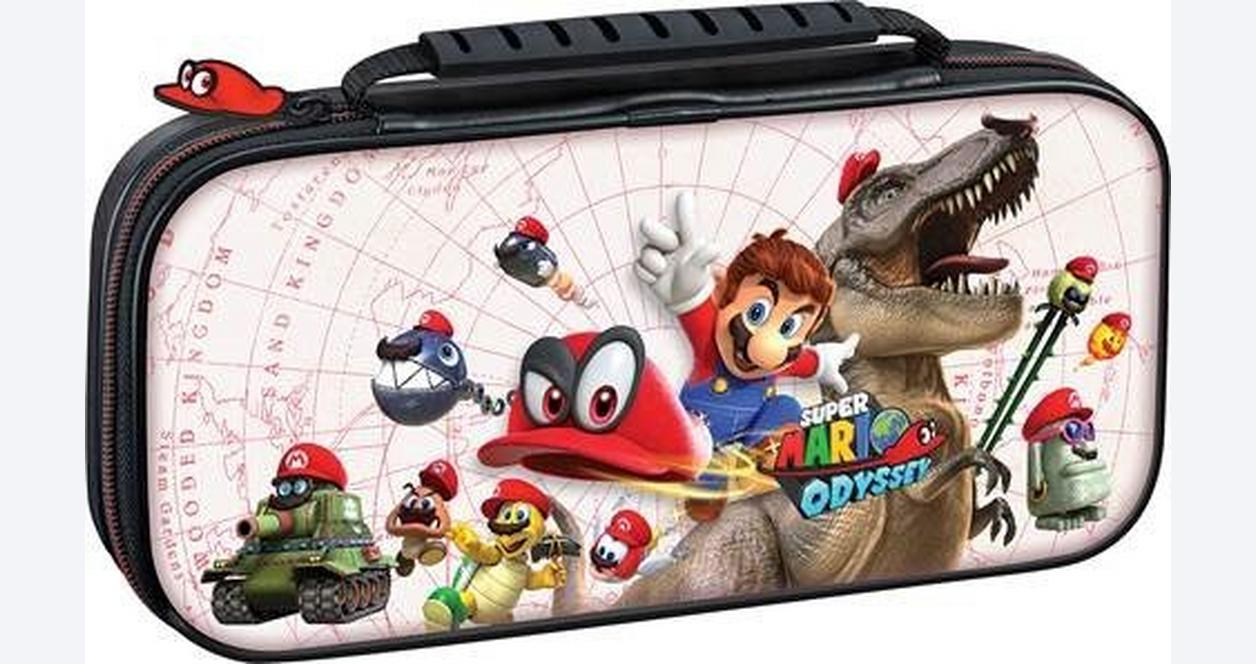 Nintendo Switch Super Mario Odyssey White Game Traveler Deluxe Travel Case