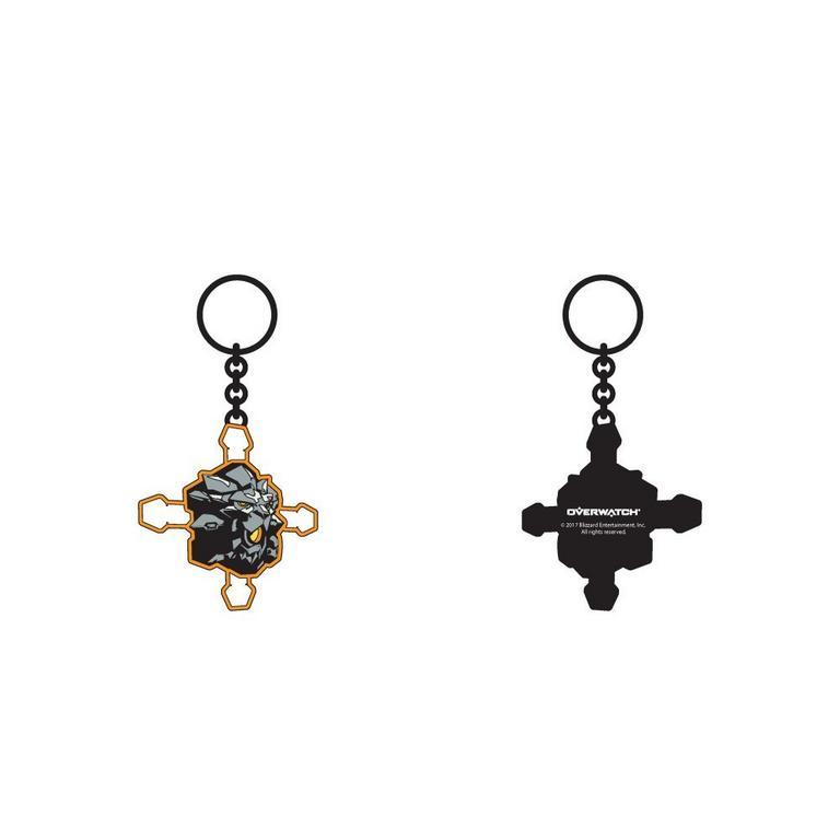 Overwatch Reinhardt Symbol Keychain