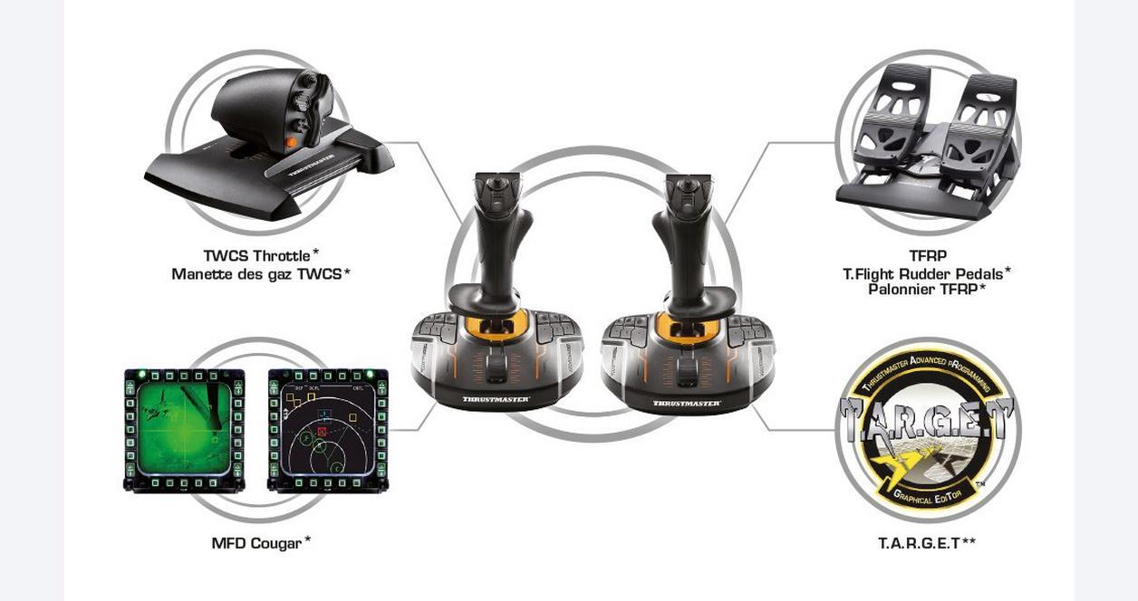 Thrustmaster T-16000M FCS Space Sim Duo Flight Stick
