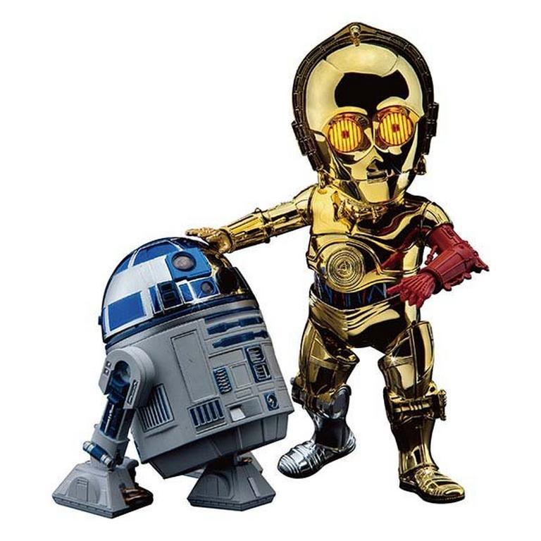 Star Wars C-3PO and R2-D2 Chrome Figure Set