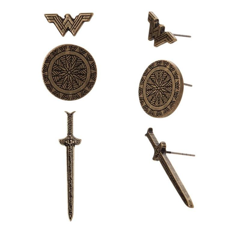 DC Wonder Woman Earrings Set