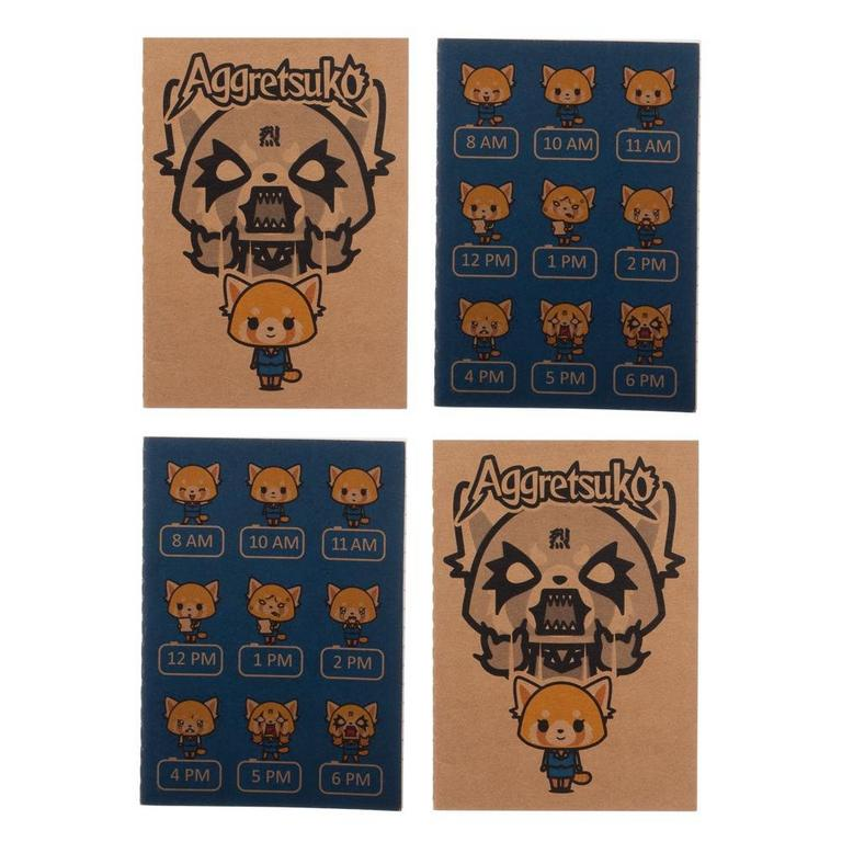 4 Pack Aggretsuko Journal