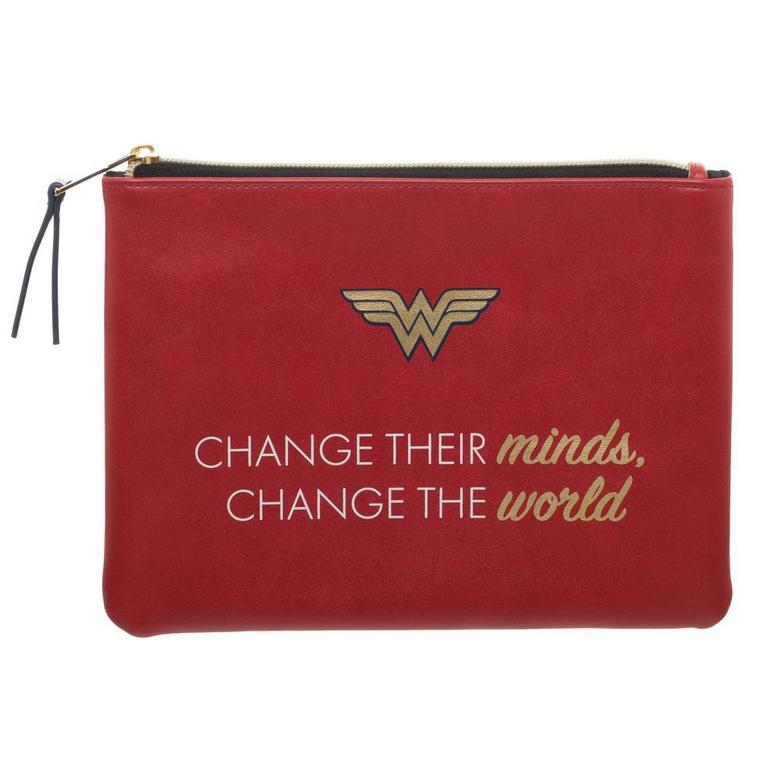Wonder Woman Quote Pencil Bag