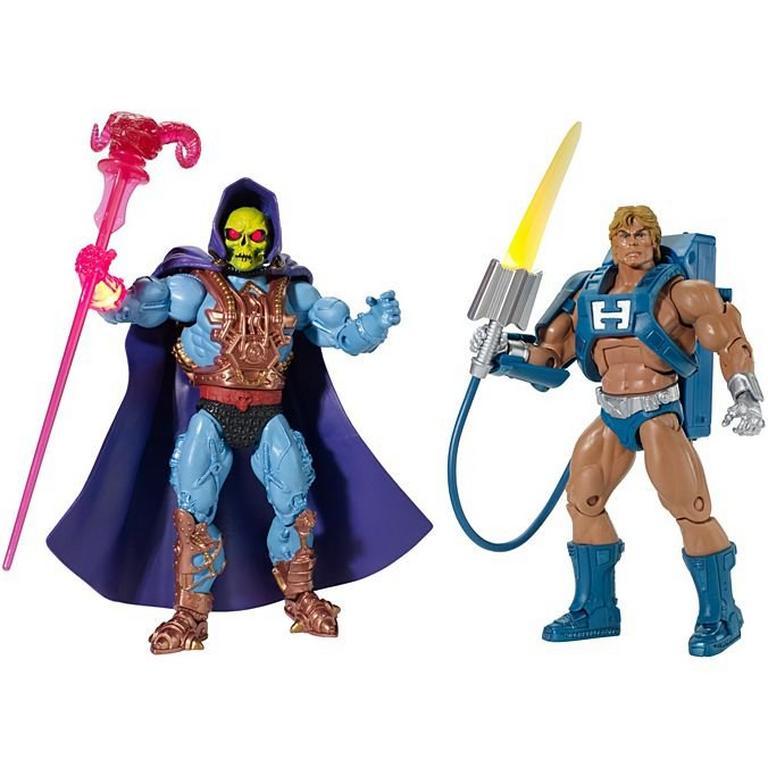 Masters of the Universe Laser Power He-Man & Laser Light Skeletor Figures