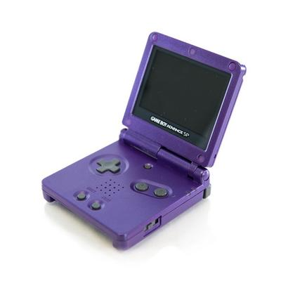 Nintendo Game Boy Advance SP with AC- Purple (GameStop Premium Refurbished)