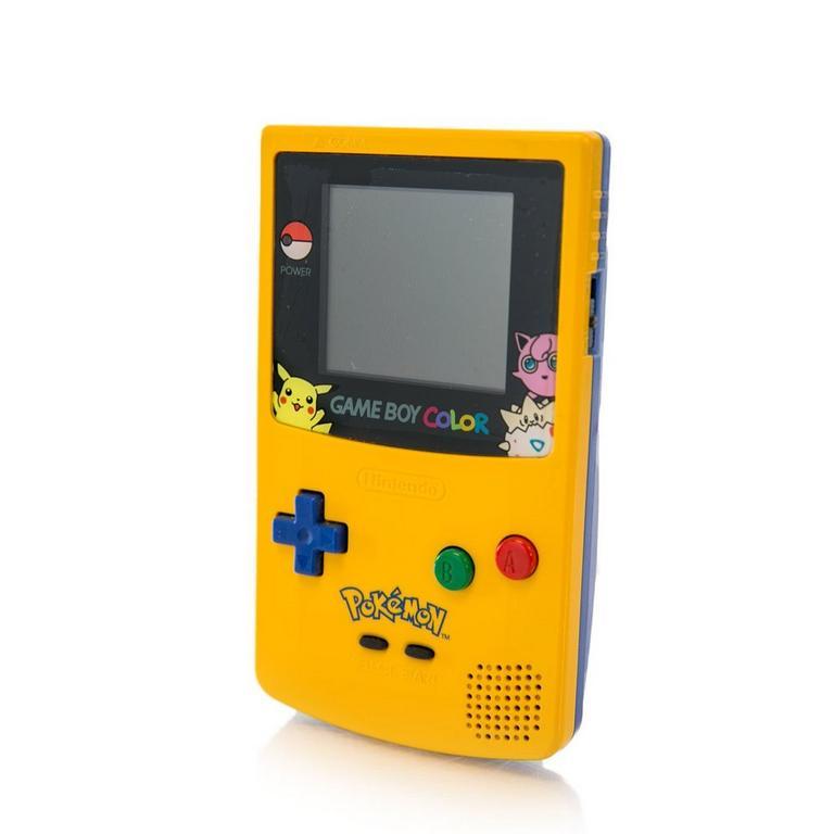Nintendo Game Boy Color Pokemon Yellow GameStop Premium Refurbished