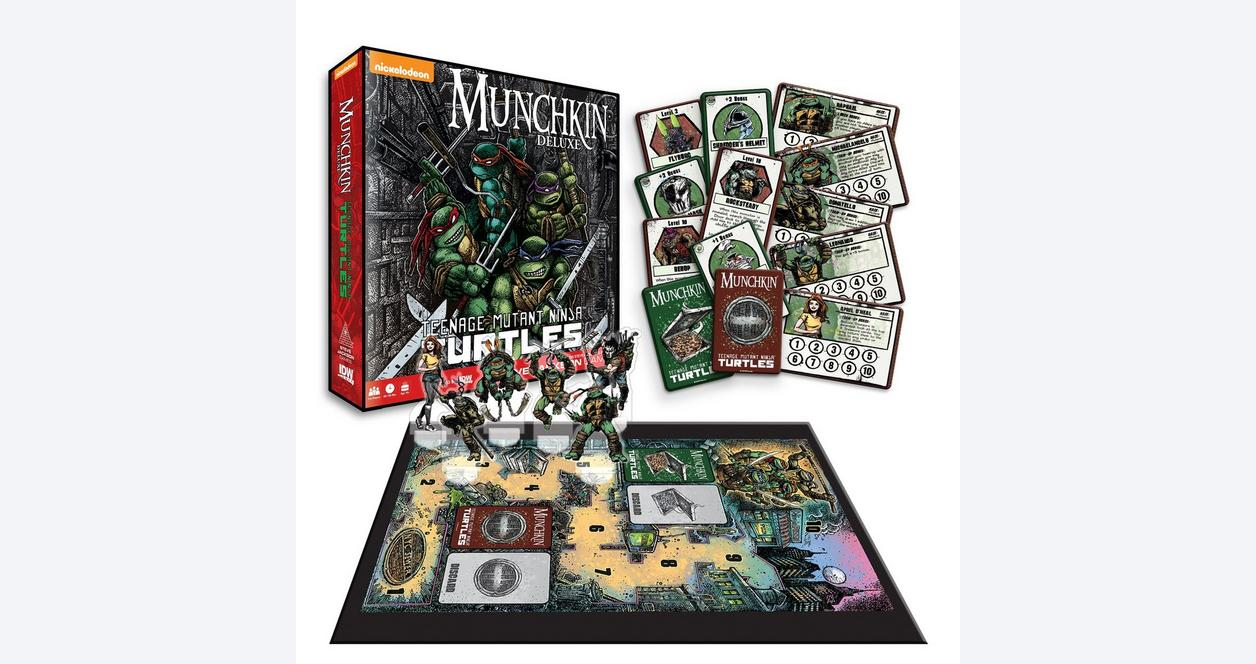 Munchkin: Teenage Mutant Ninja Turtles Deluxe Board Game Only at GameStop