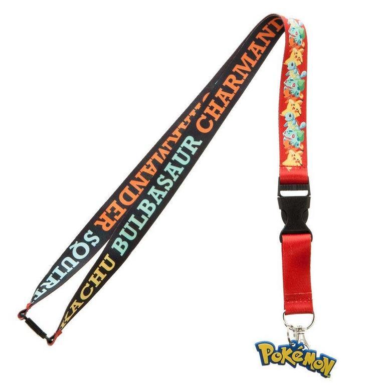 Pokemon Multi-Character Lanyard