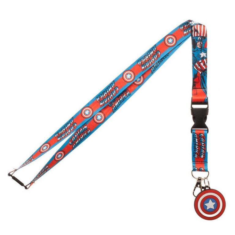 Captain America Logo Lanyard