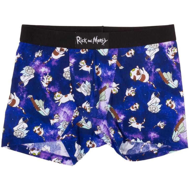 Rick and Morty Schrodinger Cat Purple Men's Boxer - X-Large