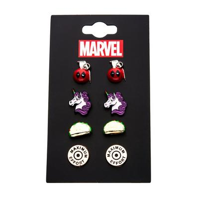 Deadpool Earrings 4 Pack