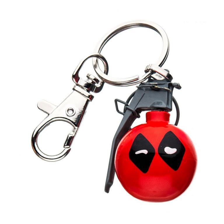 Deadpool Grenade Keychain