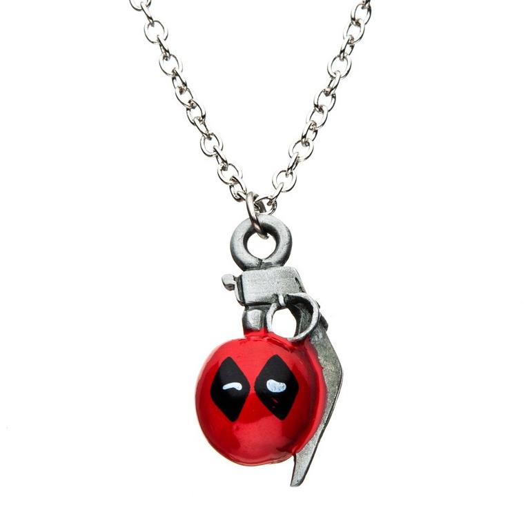 Deadpool Grenade Pendant Necklace