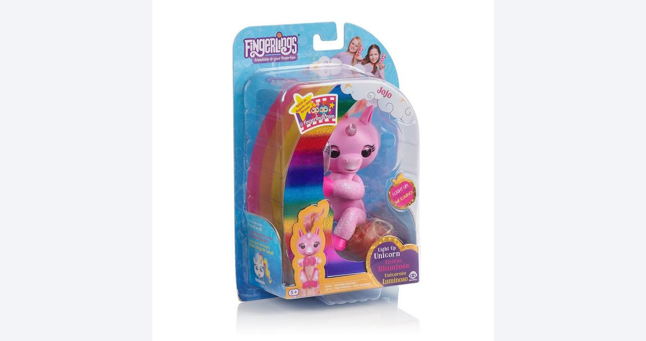 Fingerlings Jojo Pink Light Up Unicorn Interactive Figure