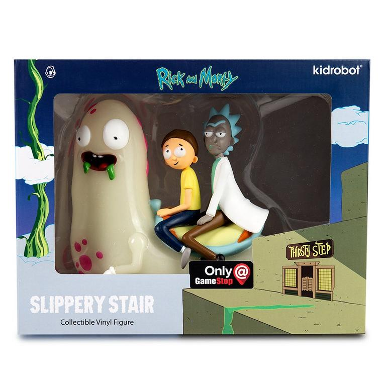 Rick and Morty Slippery Stair Glow in the Dark Statue Only at GameStop