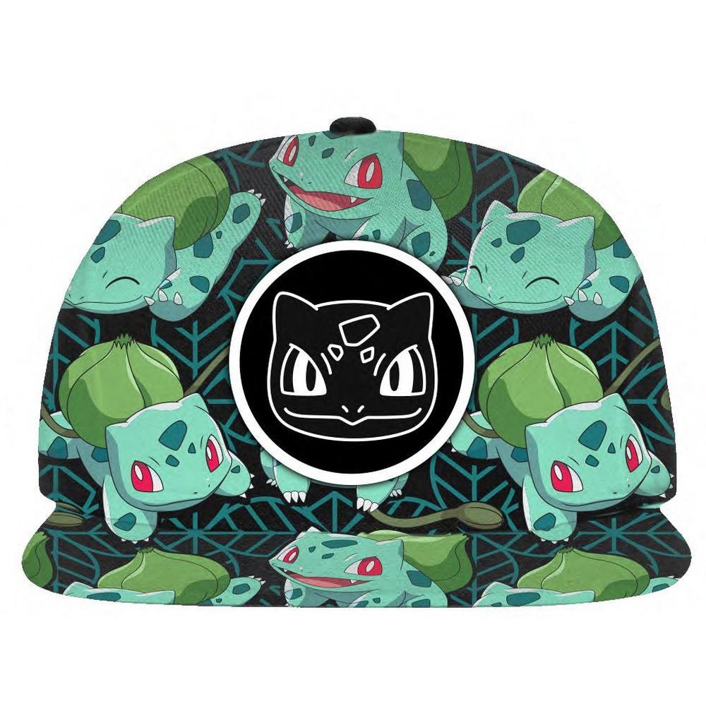 20920da69 Pokemon Tropical Bulbasaur Snapback Baseball Cap