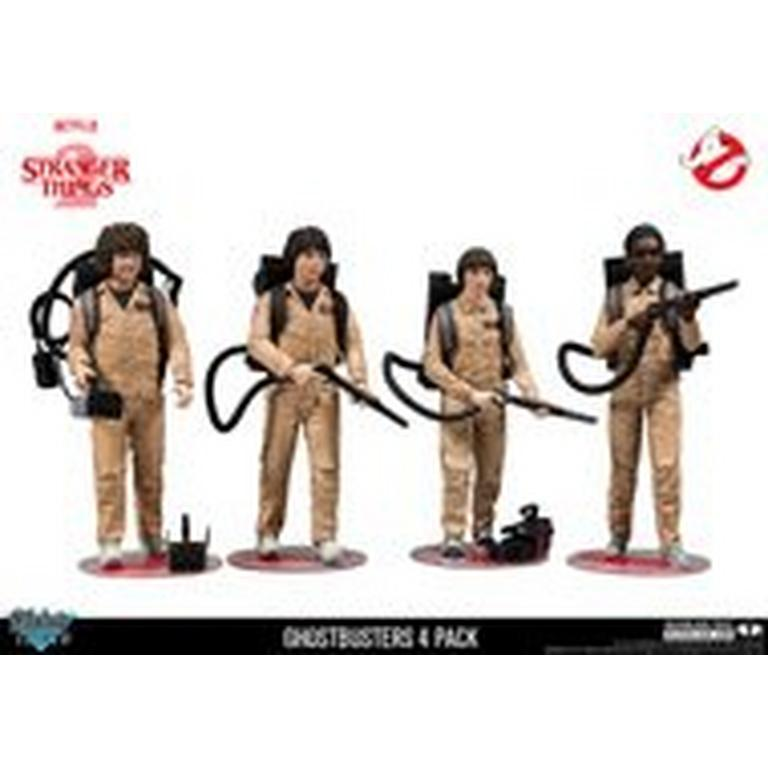 Stranger Things 2 Ghostbusters Costume 4 Pack Figure Set - Summer Convention Exclusive 2018