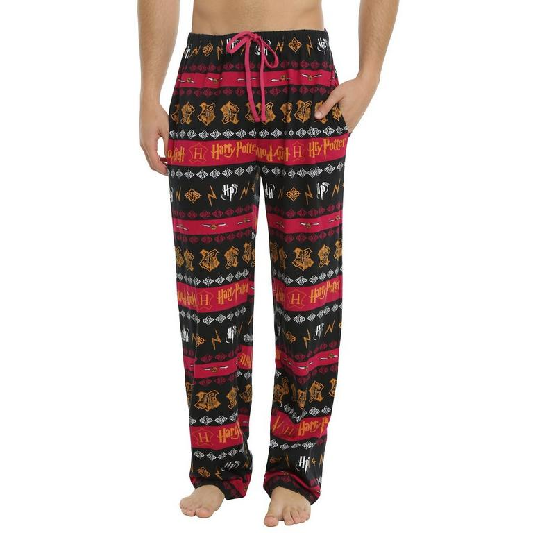 Harry Potter Hogwarts Crest Lounge Pants - X-Small