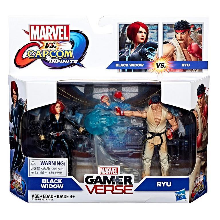 Marvel Gamerverse Marvel VS. Capcom: Infinite Black Widow VS. Ryu Action Figure 2 Pack