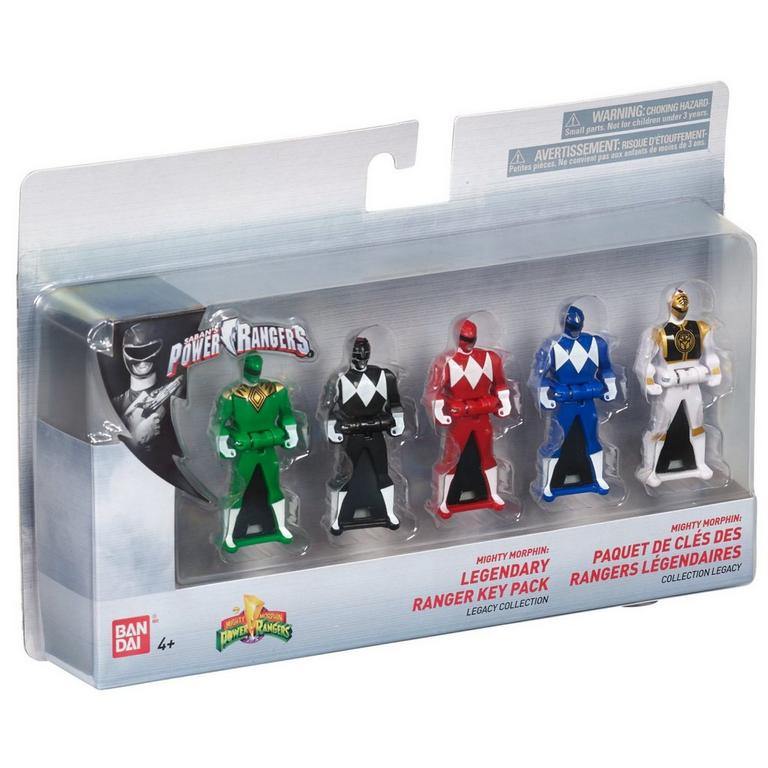 Power Rangers Legacy Mighty Morphin Key Set