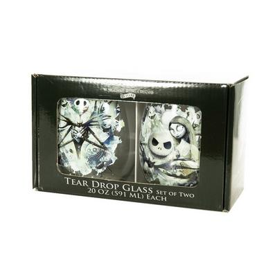 The Nightmare Before Christmas Teardrop Glass 2 Pack