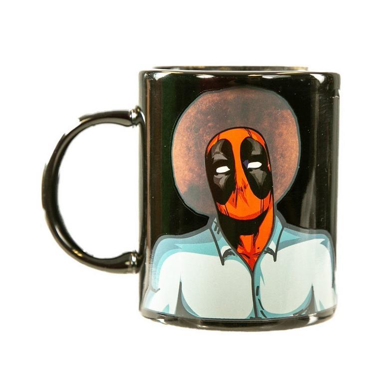 Deadpool Bob Ross Heat Changing Mug