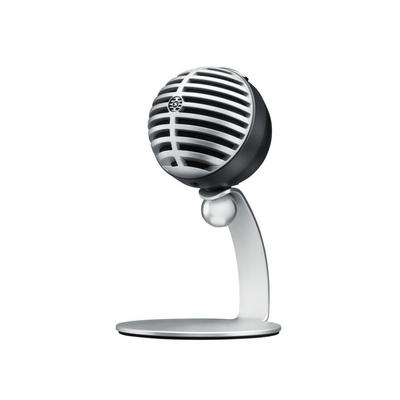 Shure MV5 Condenser Mic Grey with Stand and USB Lightning 3.5MM Cable