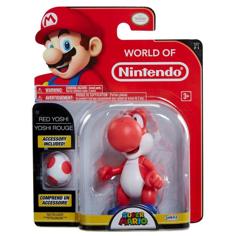 Super Mario Bros. Red Yoshi with Egg Action Figure